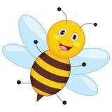 Vector Illustration Of Cartoon Bee Stock Image
