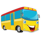 Vector Illustration Of Cartoon Bus. 