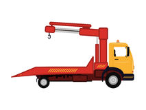 Vector illustration cartoon car tow truck Royalty Free Stock Images