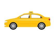 Vector illustration cartoon car yellow taxi Royalty Free Stock Photos