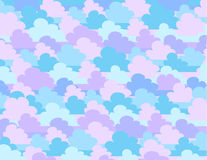 Vector illustration of cartoon clouds. Vector sky Royalty Free Stock Photo