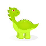 Vector illustration of cartoon dinosaur character Royalty Free Stock Image