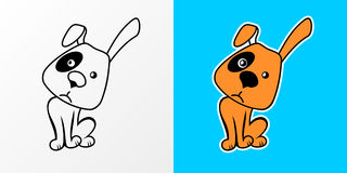 Vector illustration of Cartoon Dog Royalty Free Stock Photos
