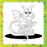 Vector illustration of Cartoon dragon Stock Images