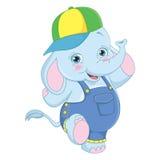 Vector Illustration Of Cartoon Elephant Royalty Free Stock Photo