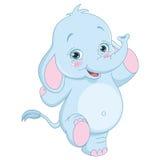 Vector Illustration Of Cartoon Elephant Stock Photos