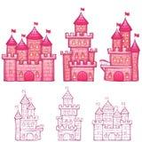 Vector illustration of Cartoon fairy tale castle Stock Image