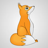 Vector illustration cartoon fox cub Royalty Free Stock Image