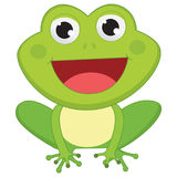 Vector Illustration Of Cartoon Frog Stock Images