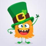 Vector illustration of Cartoon funny leprechaun creature. Vector illustration of Cartoon funny leprechaun creature Stock Photo