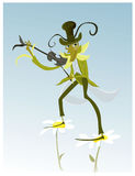 Vector illustration of cartoon Grasshopper Royalty Free Stock Images