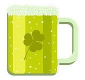 Vector illustration of cartoon green beer Royalty Free Stock Photography