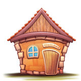 Vector illustration of cartoon home Stock Images