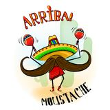 Arriba mustache musician mascot. royalty free illustration