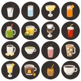 Vector cartoon non alcoholic drinks Stock Image