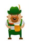 Vector illustration of cartoon oktoberfest fun man with beer Royalty Free Stock Photo