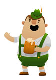 Vector illustration of cartoon oktoberfest man with beer Royalty Free Stock Photography