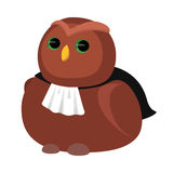 Vector Illustration of cartoon owl Stock Photography
