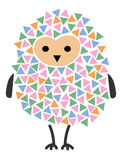 Vector illustration of a cartoon owl. Stylized owl. Art for children. A bird from geometric figures. Forest dweller on a Stock Photography