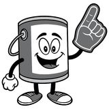 Paint Bucket with Foam Finger Illustration. A vector illustration of a cartoon Paint Bucket Stock Photos