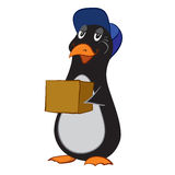 Vector illustration of a cartoon penguin Stock Images