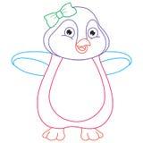 Vector Illustration Of Cartoon Penguin Royalty Free Stock Image