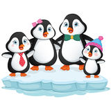 Vector Illustration Of Cartoon Penguin Family Royalty Free Stock Image