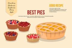 Vector illustration of cartoon pies stock photography