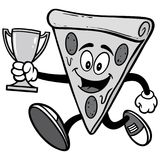 Pizza Running with Trophy Illustration Stock Photos