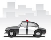 Vector illustration of cartoon police car Stock Photos