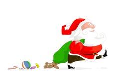 Vector illustration of cartoon santa Stock Image