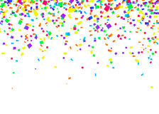 Vector illustration of cartoon seamless border background with carnival confetti Stock Photo