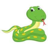 Vector Illustration Of A Cartoon Snake Stock Photography