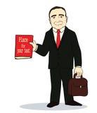 Vector illustration of Cartoon standing Stock Photography
