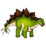 vector illustration of a cartoon stegosaurus. Vector illustration of a cartoon stegosaurus on  white background Stock Photo