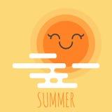 Vector illustration of cartoon summer background Stock Image