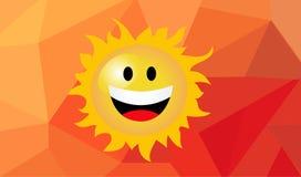 Illustration of cartoon sun stock photos