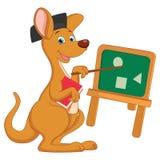 Vector Illustration of Cartoon Teacher Kangaroo Stock Photo