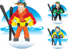 Vector illustration of cartoon winter guy Stock Images