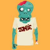Vector illustration of Cartoon zombie Stock Image