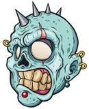 Zombie. Vector illustration of Cartoon zombie head royalty free illustration