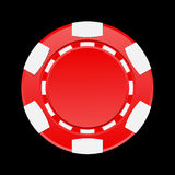 Vector illustration of casino chip Stock Photography