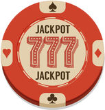 Vector illustration of casino chip Stock Image
