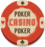 Vector illustration of casino chip Royalty Free Stock Photography