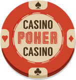 Vector illustration of casino chip Royalty Free Stock Photo