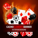 Vector illustration of casino elements Royalty Free Stock Image