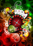 Vector illustration on a casino theme Royalty Free Stock Photos