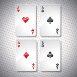 Vector illustration on a casino theme with playing poker cards Stock Image