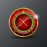 Vector illustration on a casino theme with roulette wheel on transpareent background. Vector illustration on a casino theme with roulette wheel on transpareent Stock Images