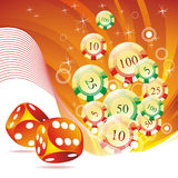 Vector illustration on a casino theme Stock Images